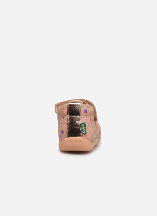 Sandalen Kickers Bigflo-2 rosa ansicht von rechts