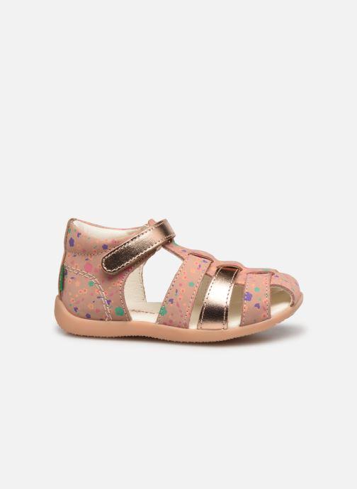 Sandalen Kickers Bigflo-2 rosa ansicht von hinten