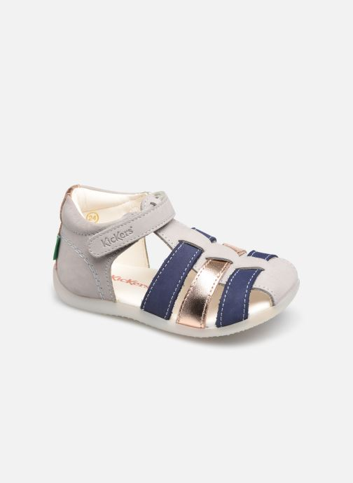 Sandales et nu-pieds Kickers Bigflo-2 Gris vue détail/paire
