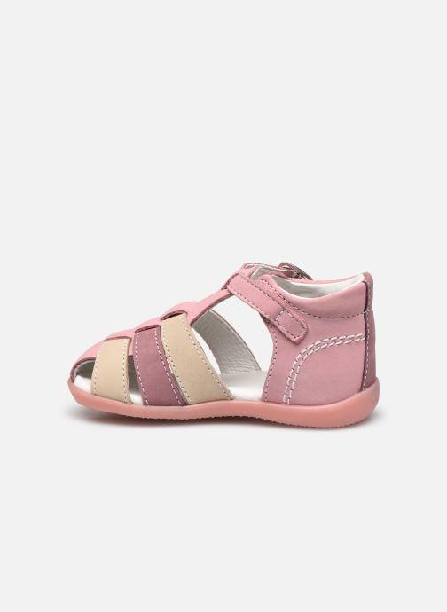 Sandalen Kickers Bigfly-2 rosa ansicht von vorne