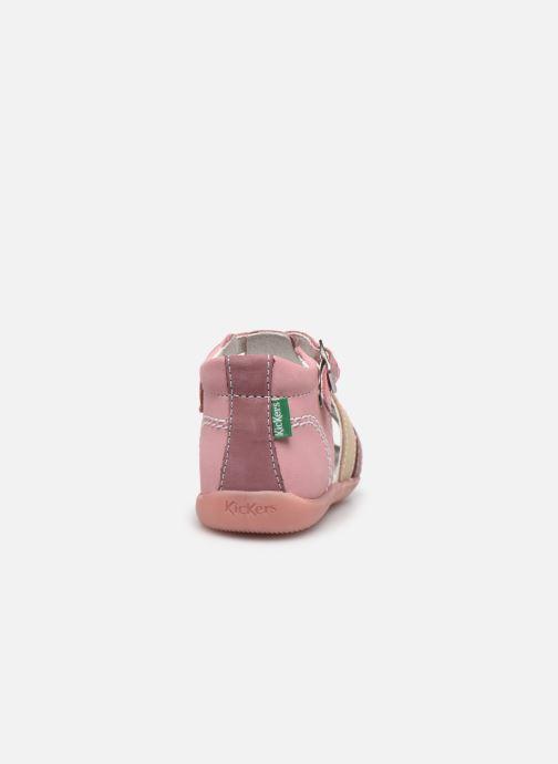 Sandalen Kickers Bigfly-2 rosa ansicht von rechts