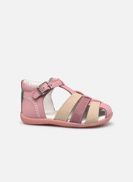 Sandalen Kickers Bigfly-2 rosa ansicht von hinten