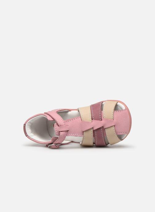 Sandalen Kickers Bigfly-2 rosa ansicht von links