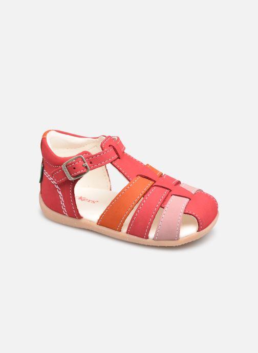 Sandales et nu-pieds Kickers Bigfly-2 Rose vue détail/paire