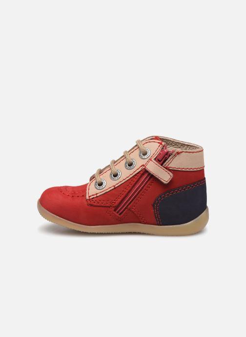 Botines  Kickers Bonzip-2 Rojo vista de frente
