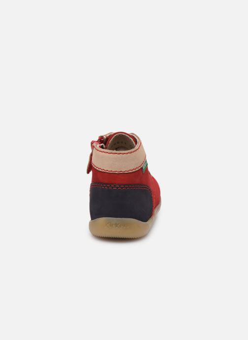 Botines  Kickers Bonzip-2 Rojo vista lateral derecha