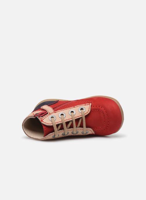 Botines  Kickers Bonzip-2 Rojo vista lateral izquierda