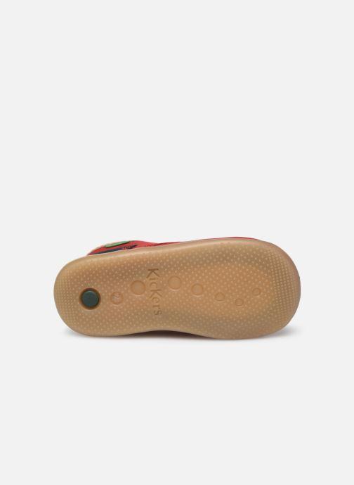 Botines  Kickers Bonzip-2 Rojo vista de arriba