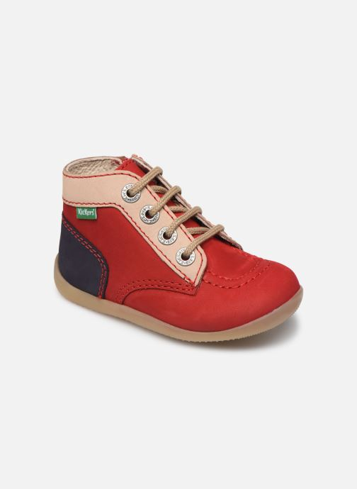 Bottines et boots Kickers Bonzip-2 Rouge vue détail/paire