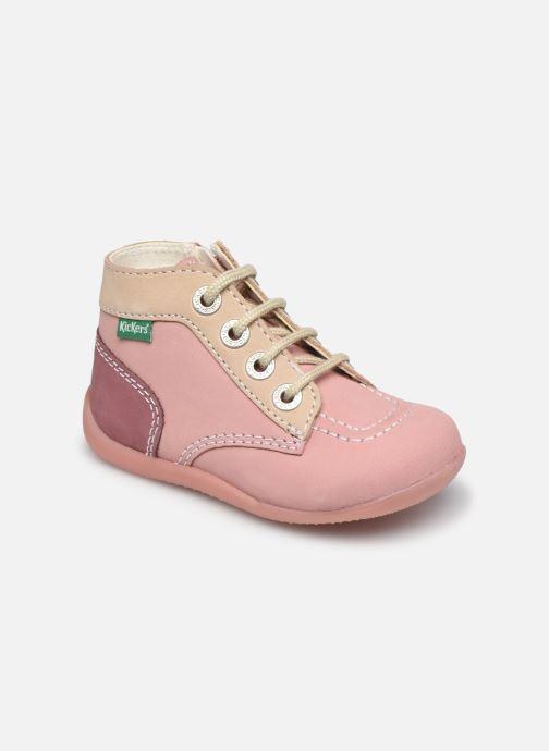 Bottines et boots Kickers Bonzip-2 Rose vue détail/paire