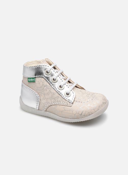 Boots en enkellaarsjes Kickers Bonzip-2 Zilver detail