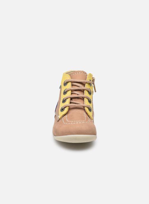 Stiefeletten & Boots Kickers Bonzip-2 beige schuhe getragen