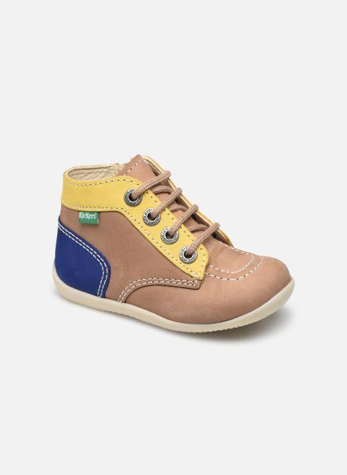 Bottines et boots Kickers Bonzip-2 Beige vue détail/paire