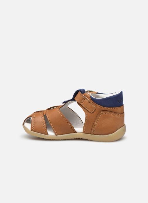 Sandales et nu-pieds Kickers Bogoz Marron vue face