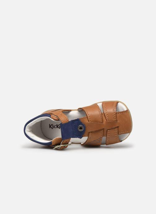 Sandales et nu-pieds Kickers Bogoz Marron vue gauche