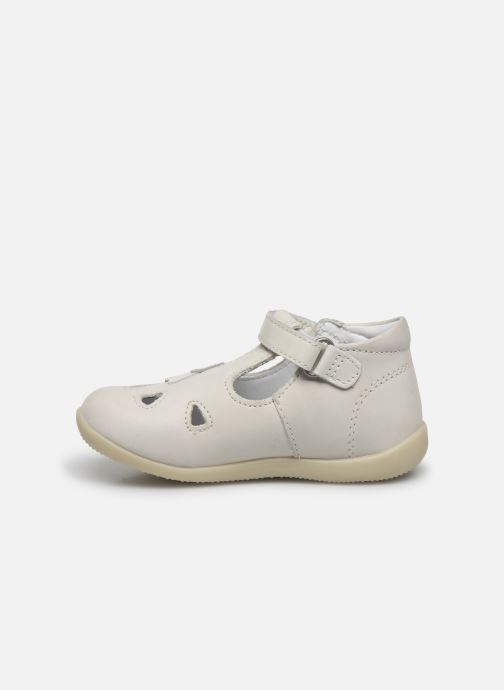 Ballerines Kickers Blupinky Blanc vue face
