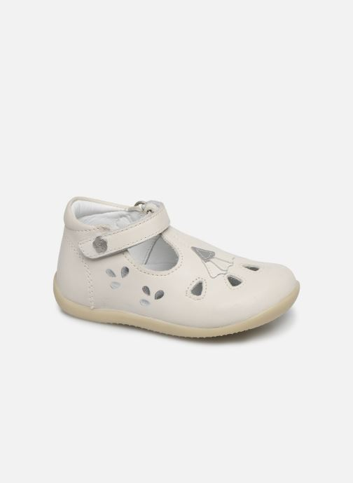 Ballerines Kickers Blupinky Blanc vue détail/paire