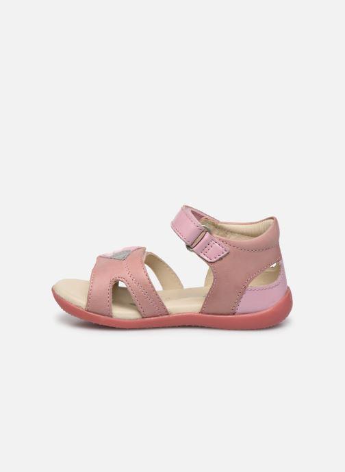 Sandales et nu-pieds Kickers Bichetta Rose vue face