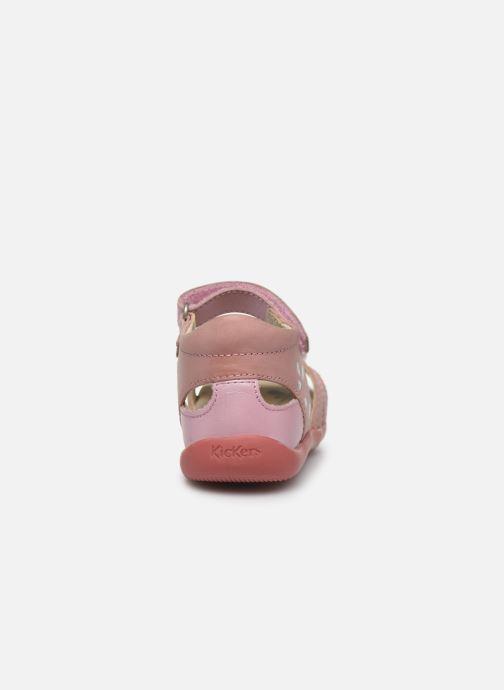 Sandales et nu-pieds Kickers Bichetta Rose vue droite