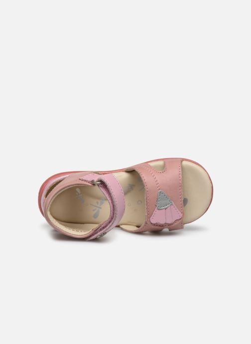 Sandales et nu-pieds Kickers Bichetta Rose vue gauche