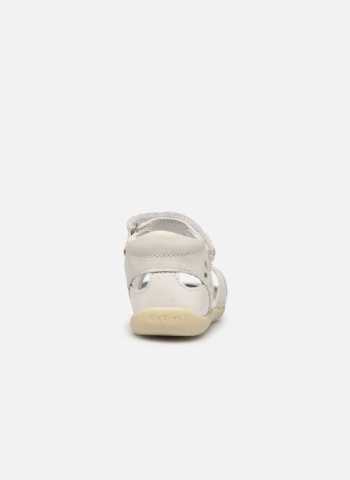 Sandales et nu-pieds Kickers Bichetta Blanc vue droite