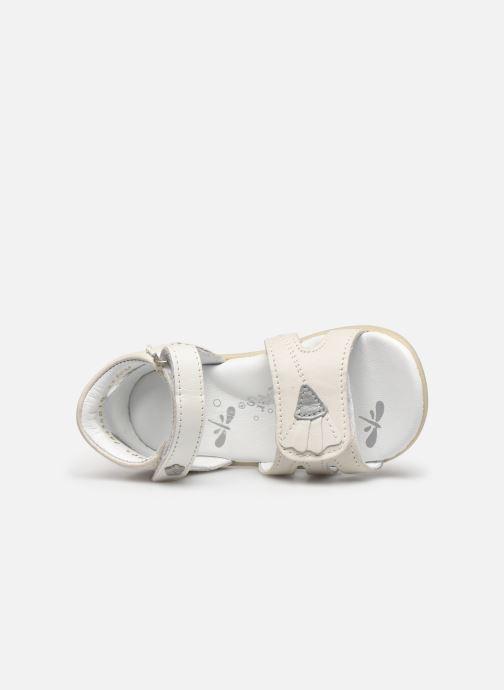 Sandales et nu-pieds Kickers Bichetta Blanc vue gauche