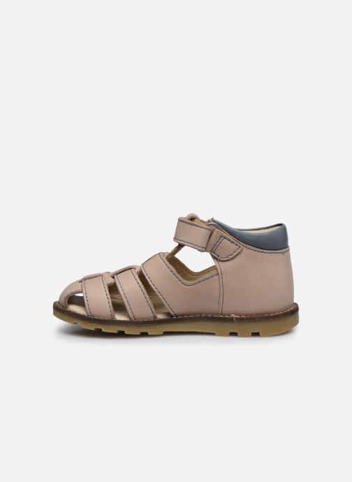 Sandales et nu-pieds Kickers Nonosta Gris vue face
