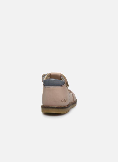 Sandales et nu-pieds Kickers Nonosta Gris vue droite