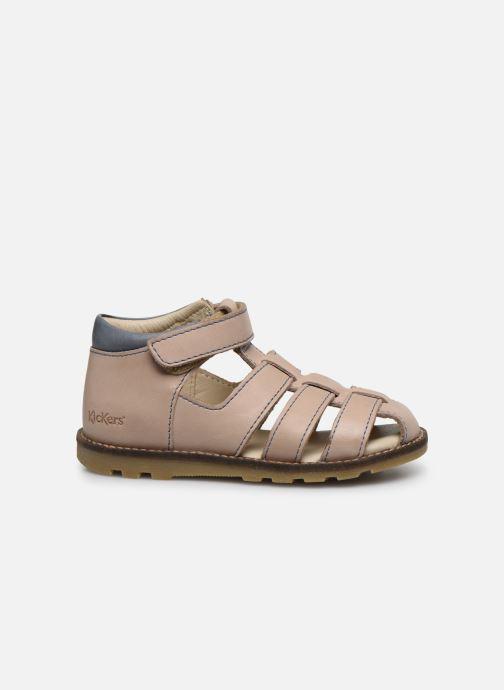 Sandales et nu-pieds Kickers Nonosta Gris vue derrière