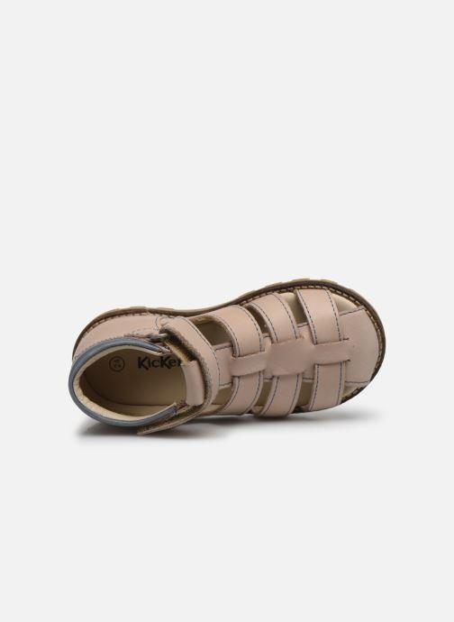 Sandales et nu-pieds Kickers Nonosta Gris vue gauche