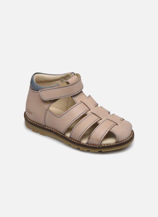 Sandales et nu-pieds Kickers Nonosta Gris vue détail/paire