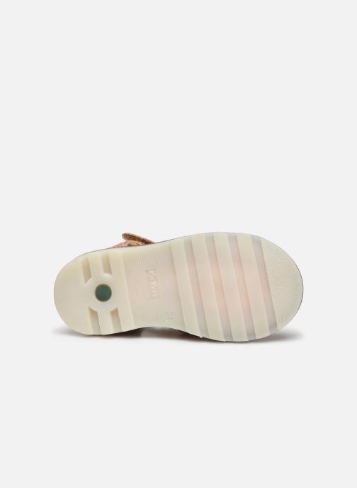 Sandales et nu-pieds Kickers Noopi Rose vue haut