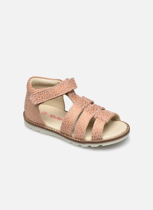 Sandales et nu-pieds Kickers Noopi Rose vue détail/paire