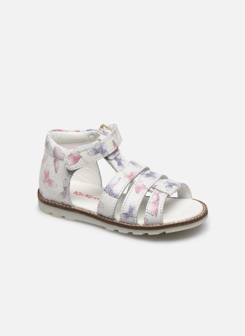 Sandales et nu-pieds Kickers Noopi Blanc vue détail/paire