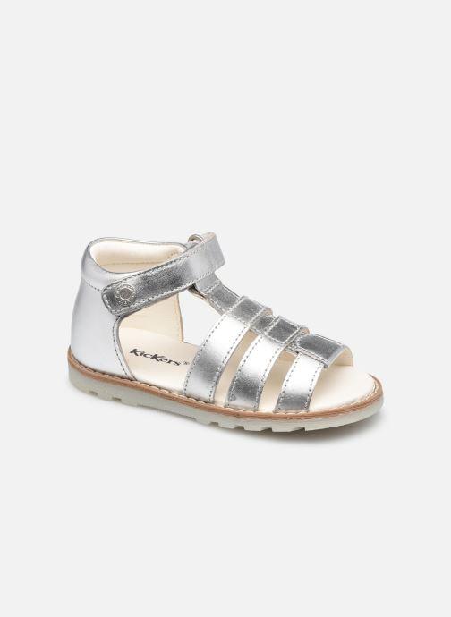 Sandales et nu-pieds Kickers Noopi Argent vue détail/paire