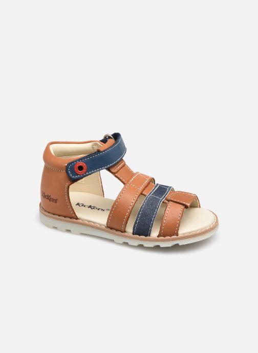 Sandales et nu-pieds Kickers Noopi Marron vue détail/paire