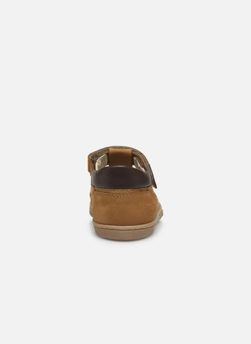Chaussures à lacets Kickers Tactack Marron vue droite