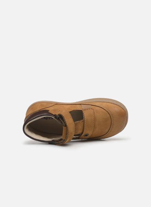 Chaussures à lacets Kickers Tactack Marron vue gauche