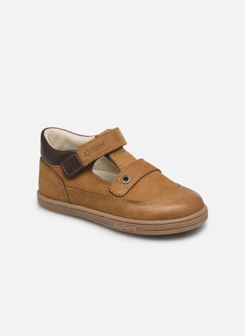 Chaussures à lacets Kickers Tactack Marron vue détail/paire