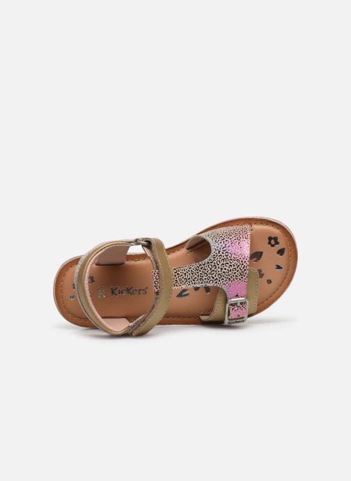 Sandales et nu-pieds Kickers Diazz Multicolore vue gauche