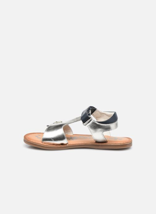 Sandalen Kickers Diazz silber ansicht von vorne