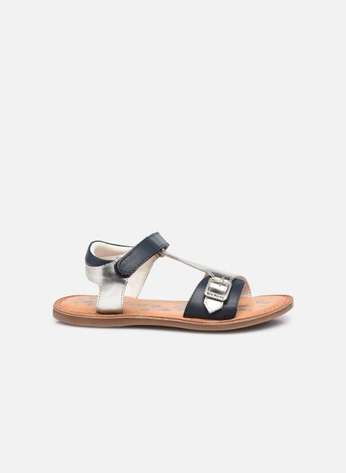 Sandalen Kickers Diazz silber ansicht von hinten