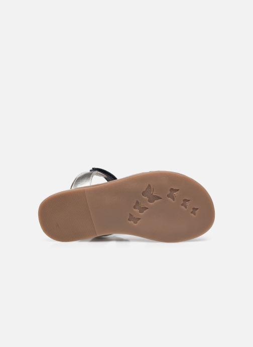 Sandalen Kickers Diazz silber ansicht von oben