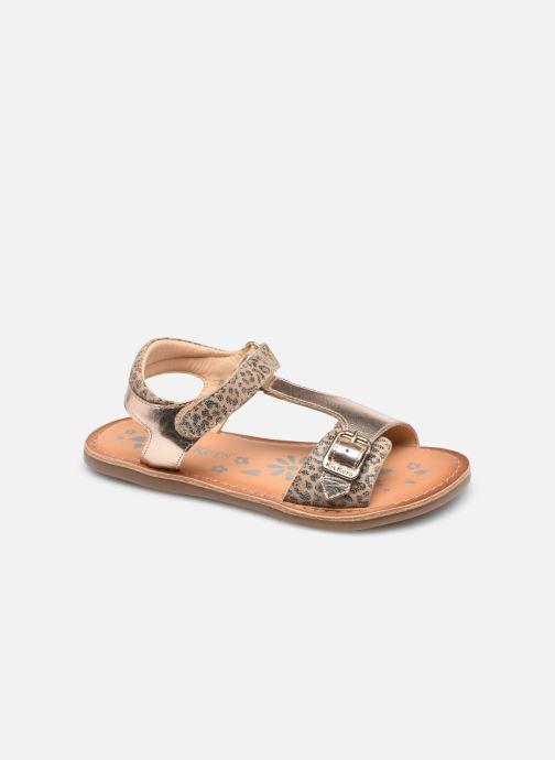Sandales et nu-pieds Kickers Diazz Beige vue détail/paire