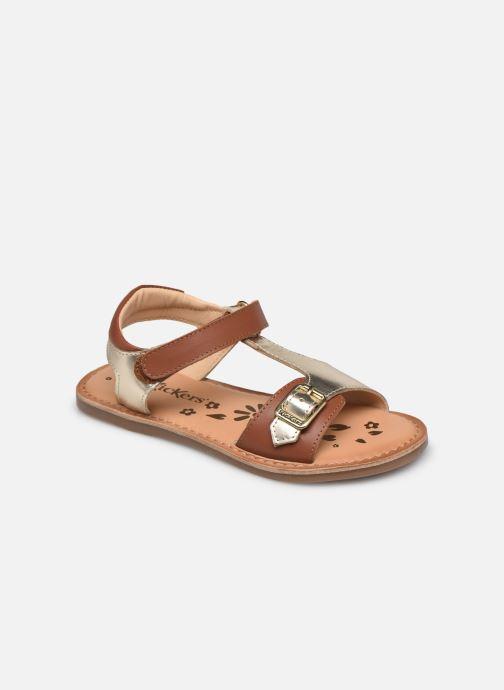 Sandales et nu-pieds Kickers Diazz Or et bronze vue détail/paire