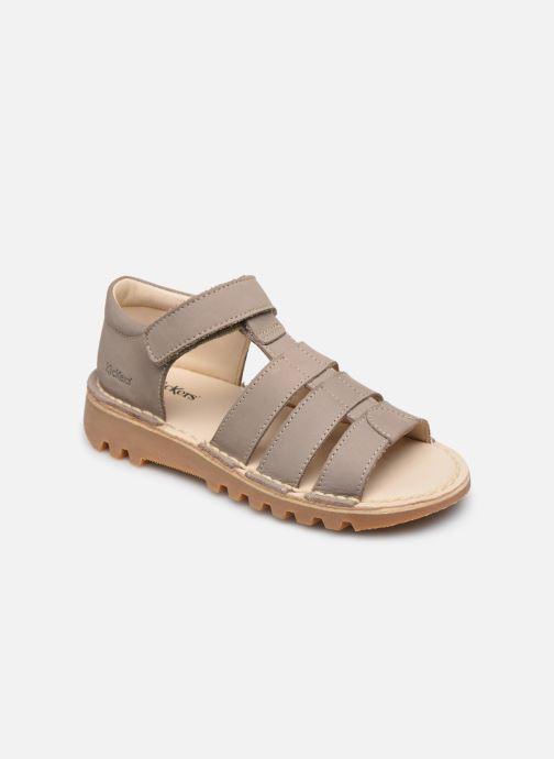 Sandales et nu-pieds Kickers Neopy Gris vue détail/paire
