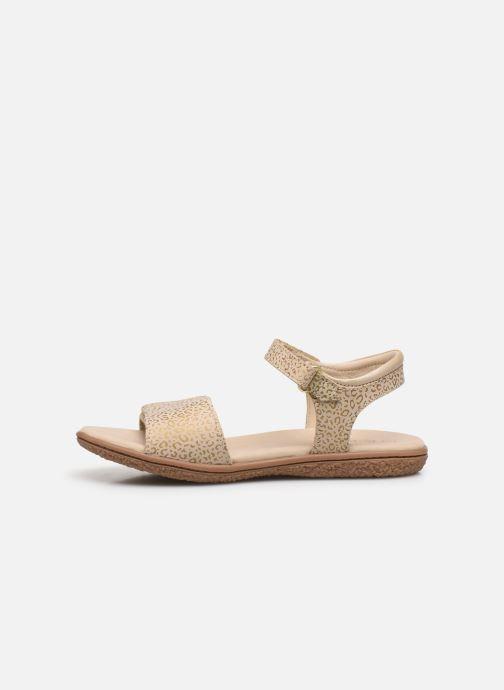 Sandalen Kickers Vepiuma Beige voorkant