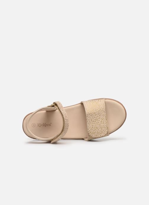 Sandalen Kickers Vepiuma Beige links