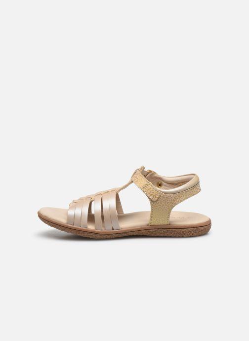 Sandales et nu-pieds Kickers Verybest Or et bronze vue face