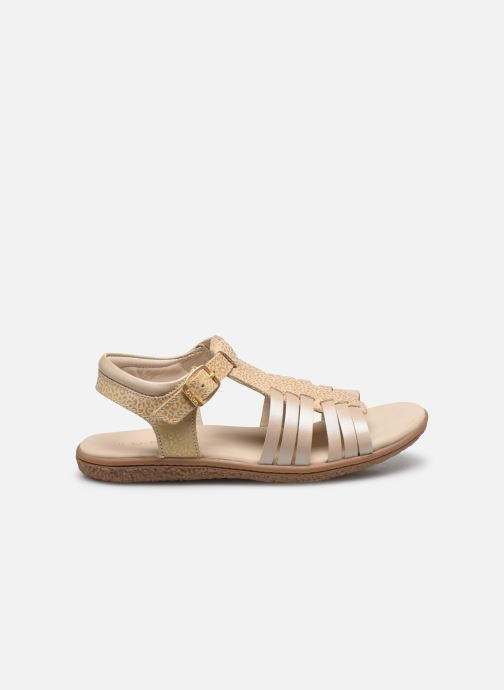 Sandales et nu-pieds Kickers Verybest Or et bronze vue derrière
